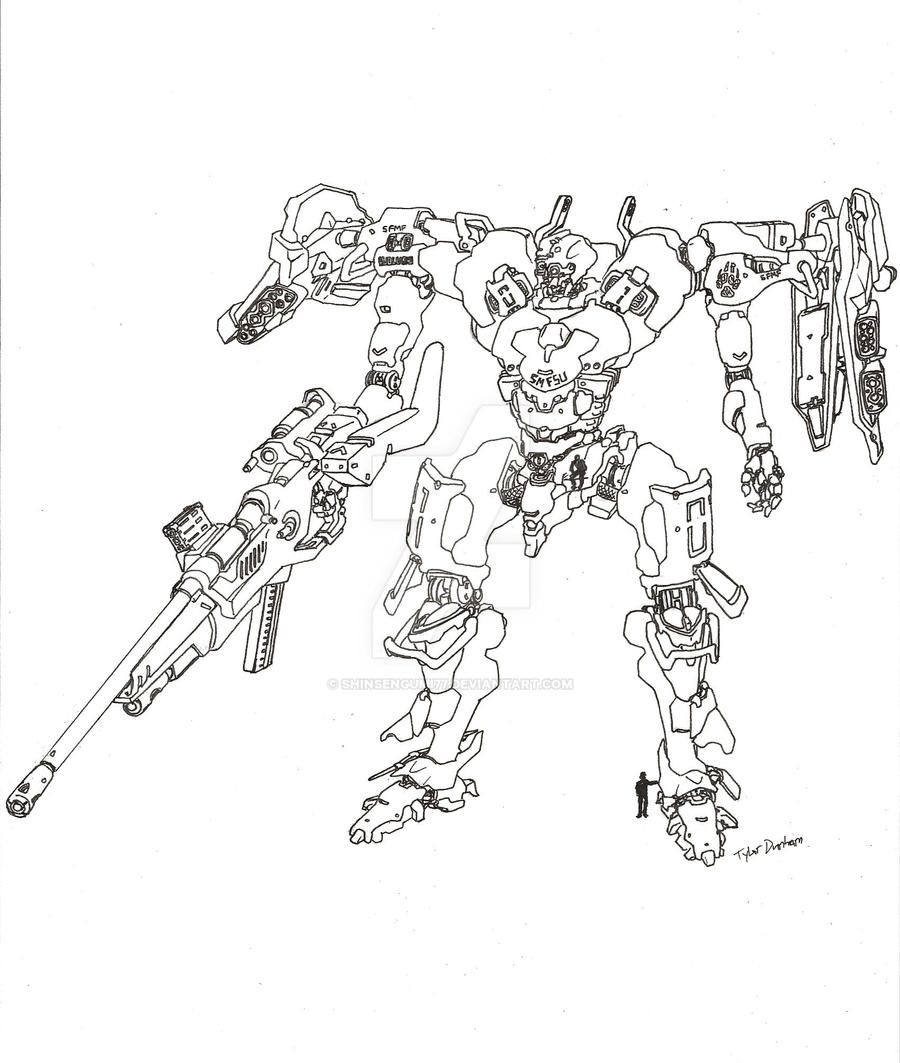 Wolves Class Mech 2 by shinsengumi77