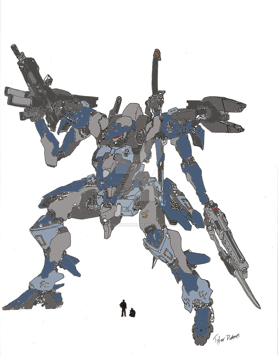 Wolves Class Mech paint by shinsengumi77