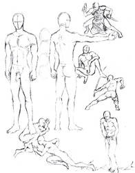Male figures 1 by shinsengumi77