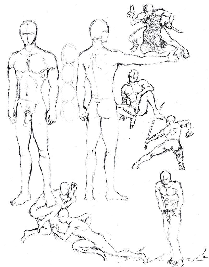 Male figures 1 by shinsengumi77 on DeviantArt