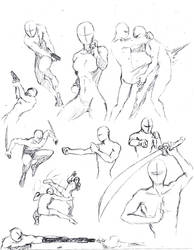 Action poses 1 by shinsengumi77
