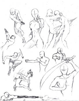 Action poses 1