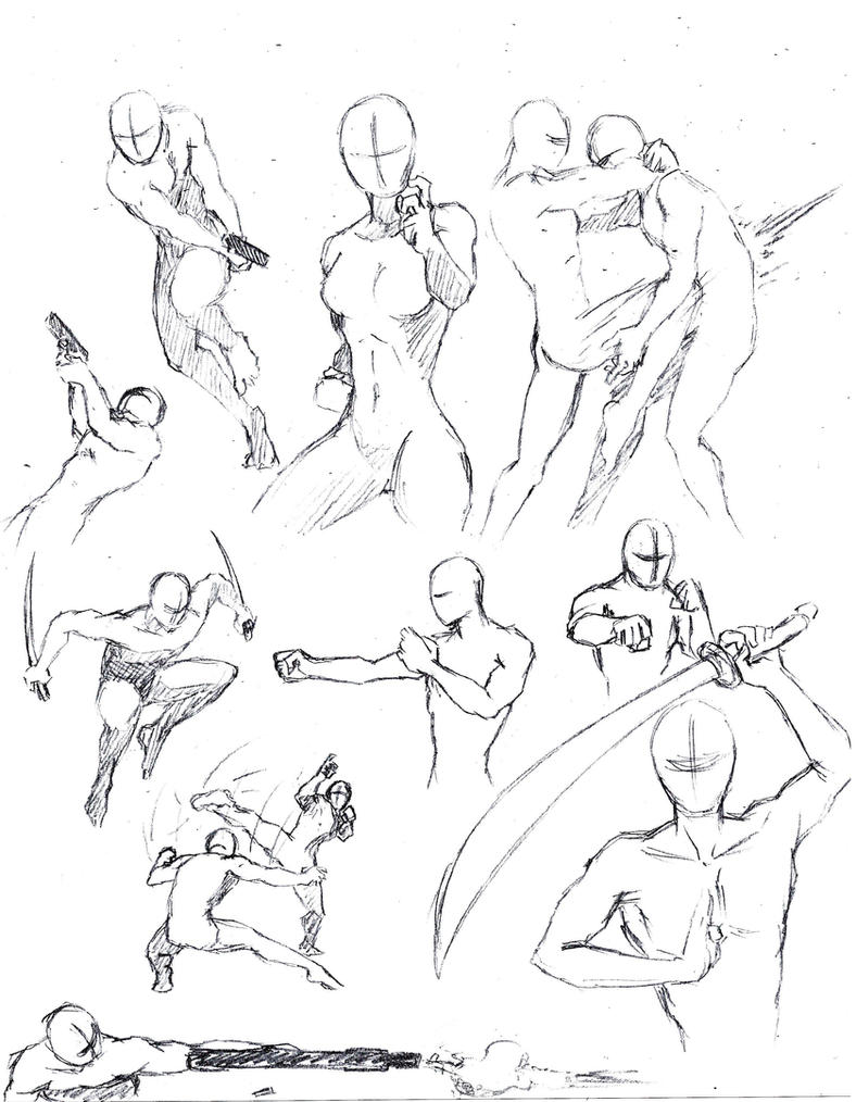 Action poses 1 by shinsengumi77 on DeviantArt