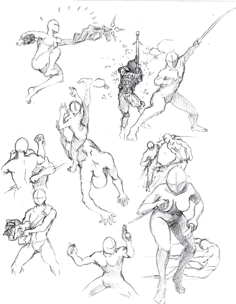Action Poses 3 By Shinsengumi77