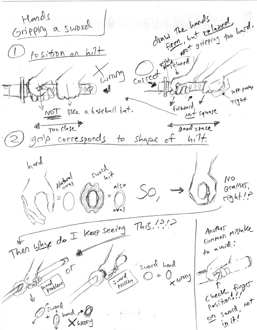 How To Draw Hands Gripping A Sword By Shinsengumi77 How To Draw Hands  Gripping A Sword