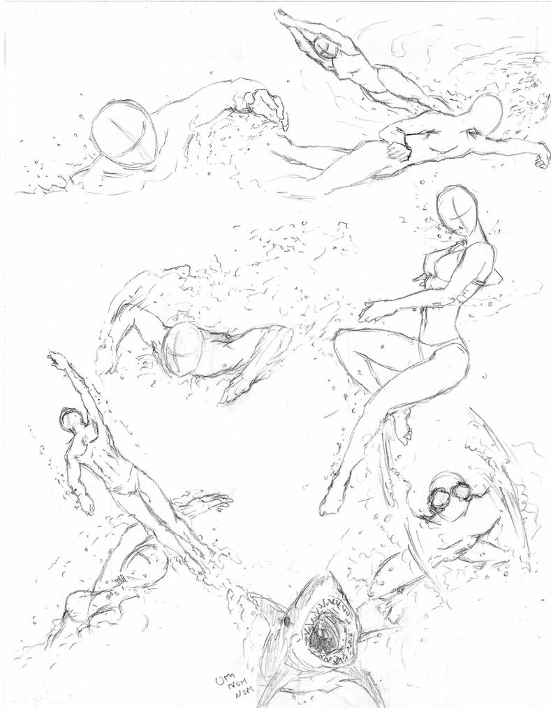 Swimming poses by shinsengumi77 on deviantart