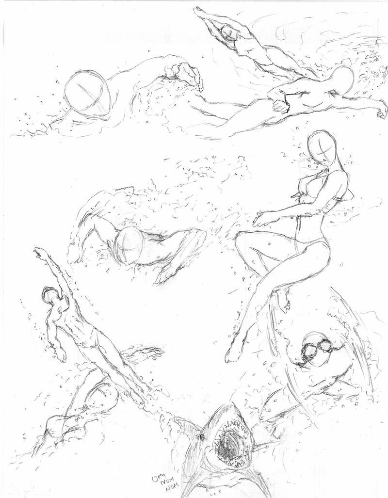 Swimming poses by shinsengumi77 on DeviantArt