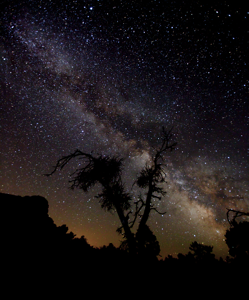 Milky Way Wallpaper: Milky Way Over Craters By Iamidaho On DeviantArt