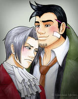 Miles Edgeworth x Dick Gumshoe by Vani-Fox