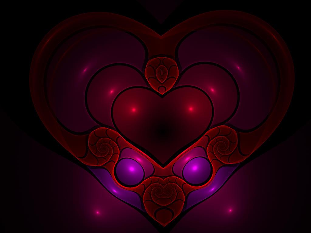 Fractal Heart by Moonchilde-Stock