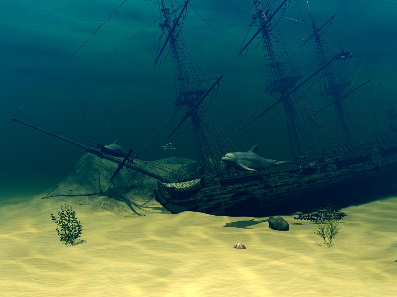 Sunken Ship by Moonchilde-Stock