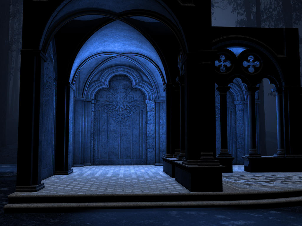 Gothic Blue Stock by Moonchilde-Stock