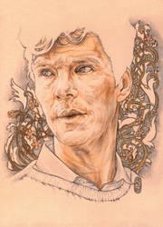 Benedict with flowers