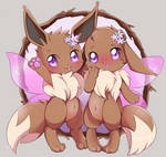 Flower Eevee Brothers