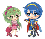 FE: Chibi Marth and Tiki