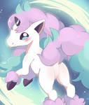 Galarian Ponyta by manatiki
