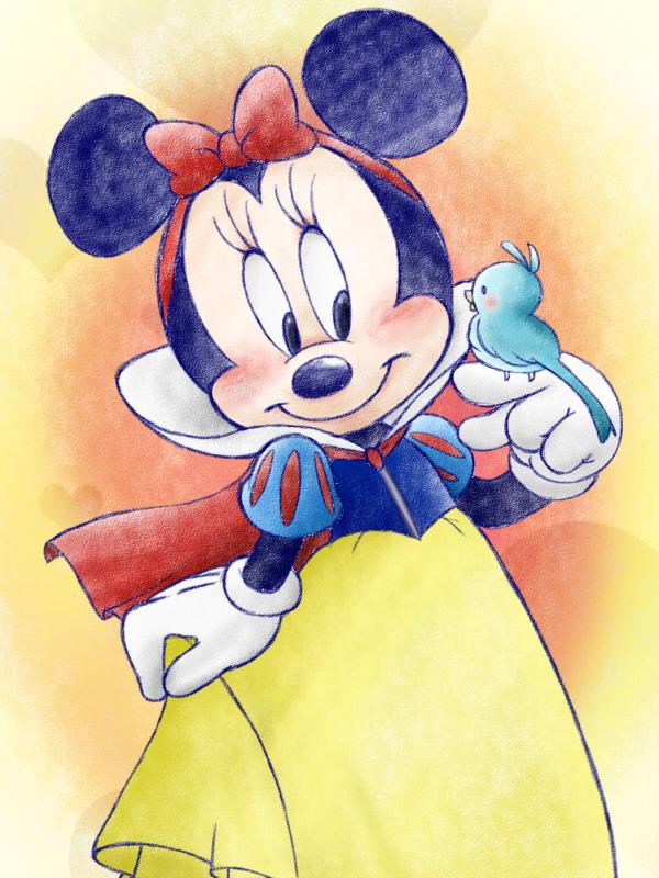 minnie as Snow White by chico-110 on DeviantArt
