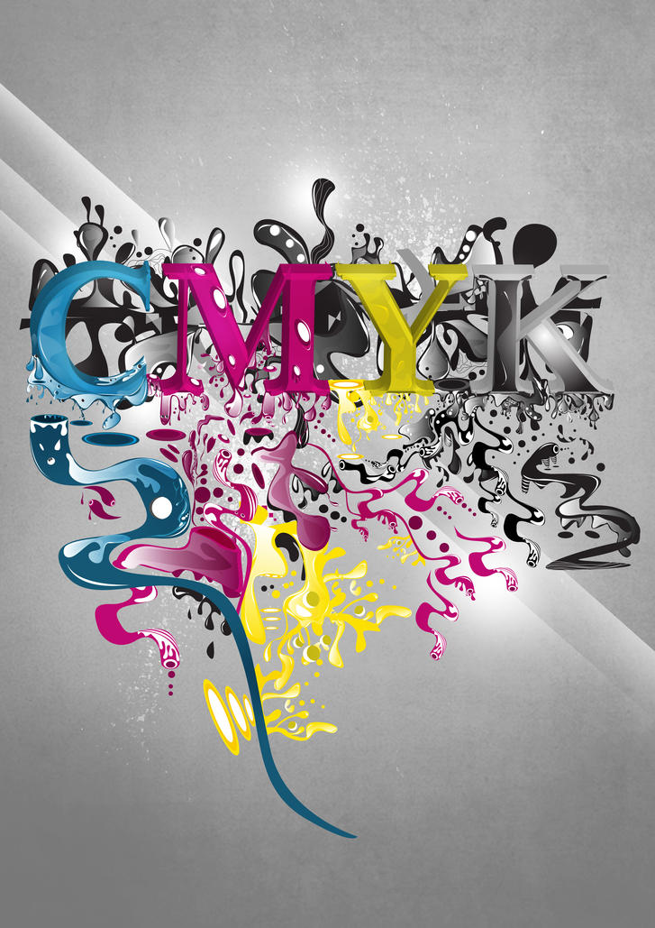 CMYK by gilang2007 Digital Art Inspiration: CMYK Artworks & Graphic Designs