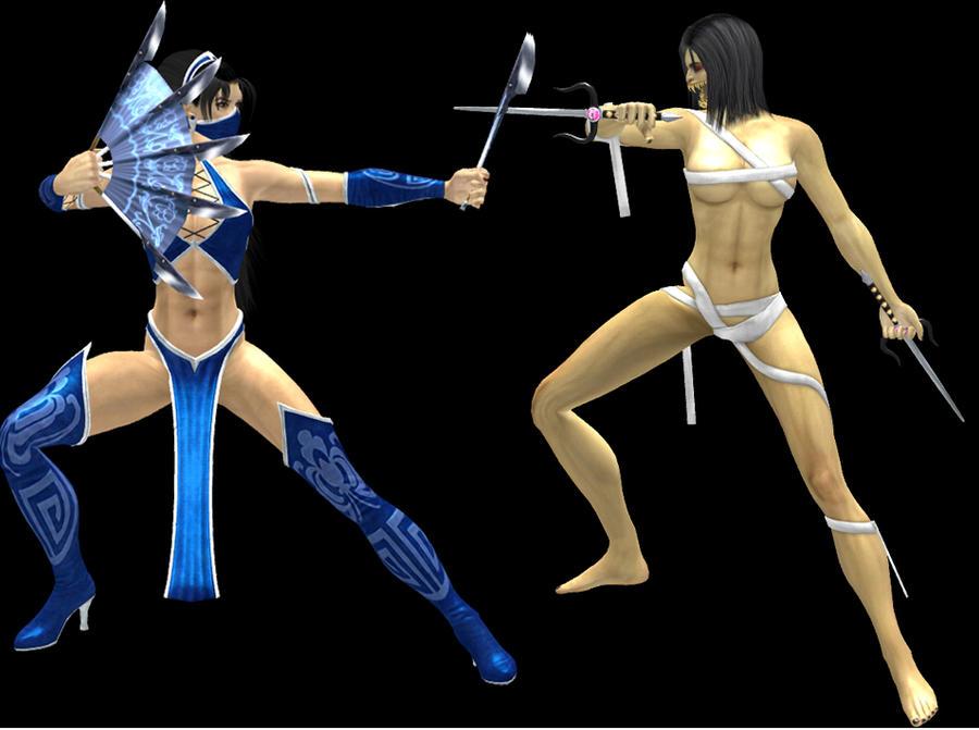 Kitana vs Flesh Pits Mileena by - 86.6KB