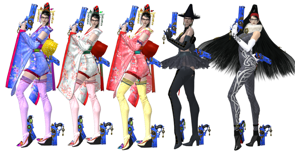 Bayonetta 2: Outfits that should've been included by artemismoonguardian
