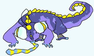 aquatic chameleon animal thing by weekendsaviorgod