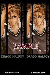Draco Malfoy bookmark by 4-th