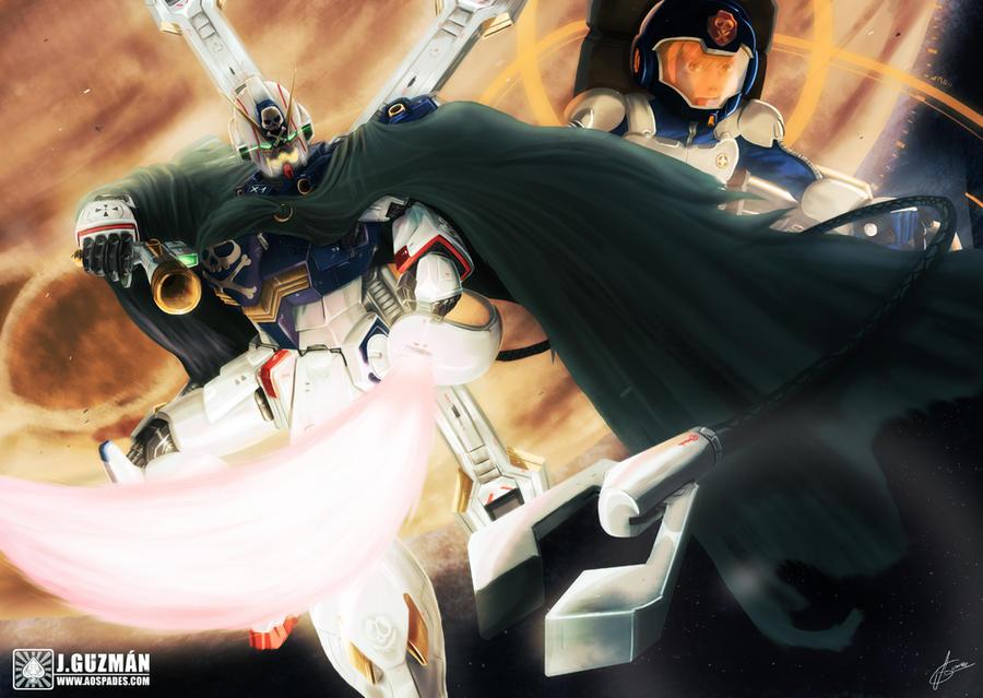 Crossbone Gundam Skull heart by Z3ros