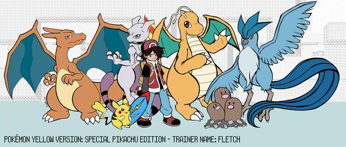 Pokemon Yellow Full Team