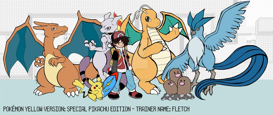 Pokemon Yellow Full Team by Guillo-Carregha