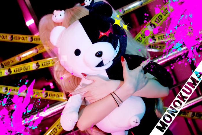 Monokuma+Junko by ekiholic