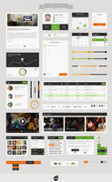 Flat Web UI Kit Pack by ifeell