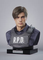 Resident Evil 2 remake-Leon bust! by black-cat010