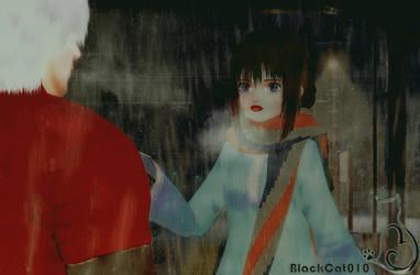 Rainy Night!BlackCat010! by black-cat010