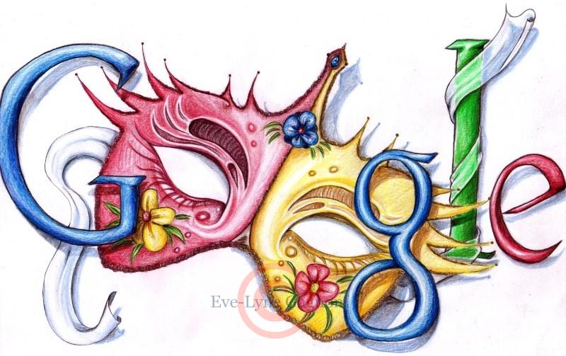 Doodle-Google Mascarade by Velyne