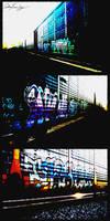 Locomotive Graffiti by singularitycomplex