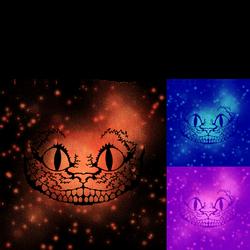 Cheshire Cat Stencil Design