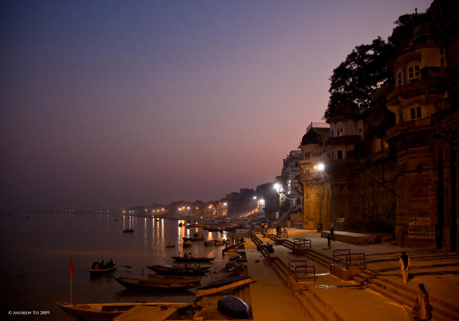 Varanasi Sunset I by AndrewToPhotography