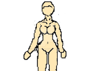 Free Female Pixel character base 2 by SnowWolf10