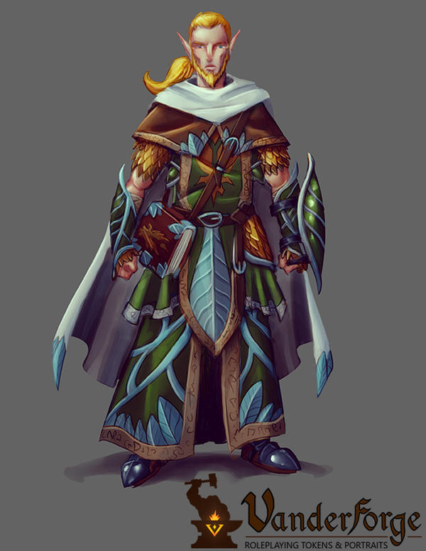 Forest Elf Cleric Concept by fdiskart