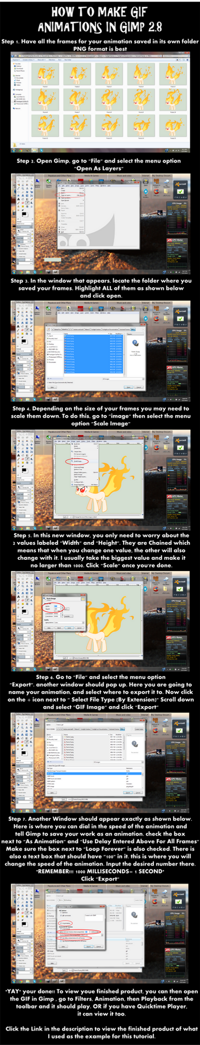 How To Make a GIF In Gimp 2.8 by EROCKERTORRES