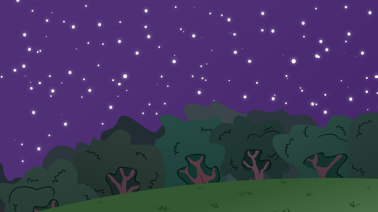 MLP BG-Forest At Night #2 by EROCKERTORRES