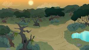MLP Background- Forest At Dusk