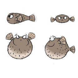Puffer Fish - enemy concept