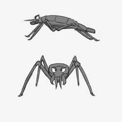 Water Strider - enemy concept