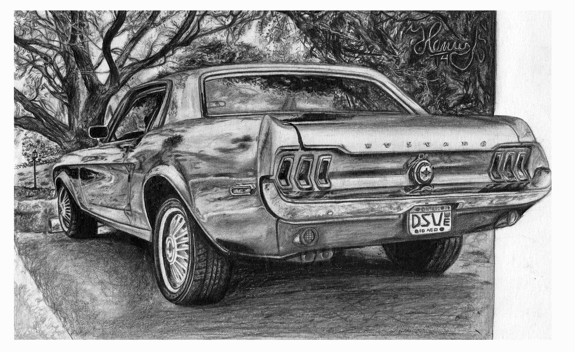 ford mustang drawing by henrydsv on deviantart. Black Bedroom Furniture Sets. Home Design Ideas