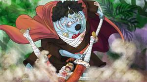 Jinbe VS Luffy