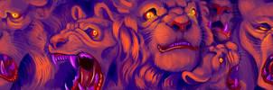 Lion Beast Faces
