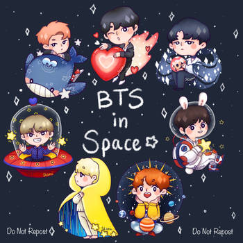 BTS Space AU by DaTenshiKiss
