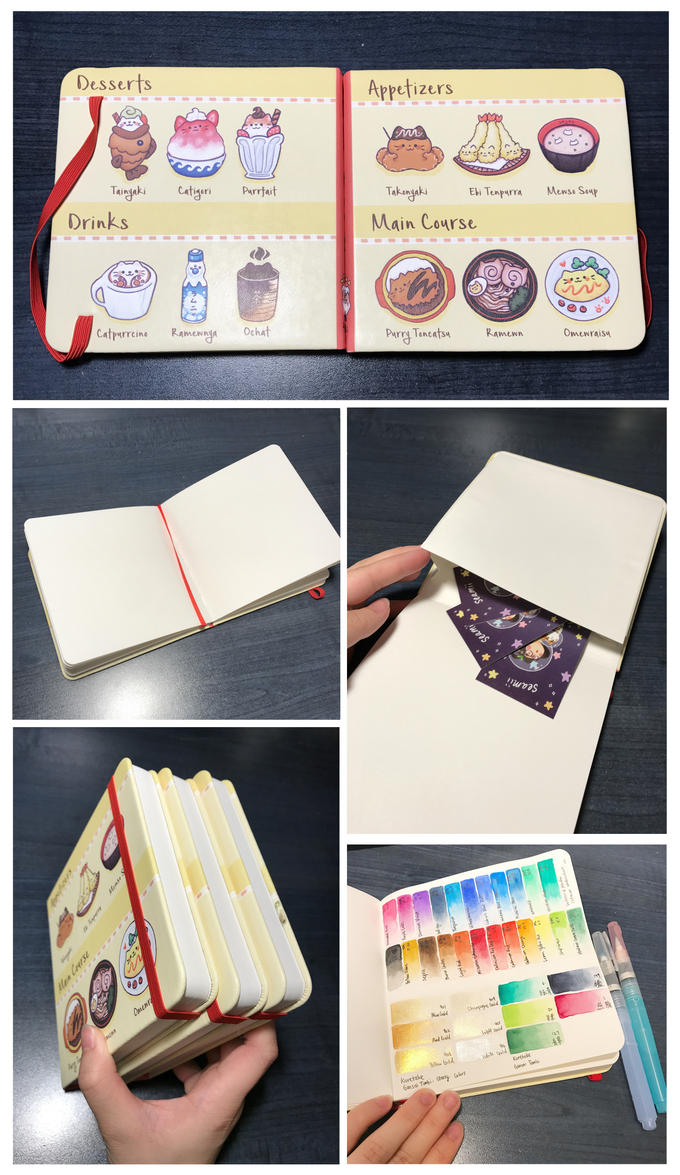 Cat Food Sketchbook! by DaTenshiKiss