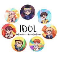 BTS IDOL Stickers